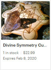 Divine Symmetry Cube of Metatron Sacred Geometry Crystal Charging Board