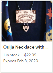 Ouija Necklace with Teeny Weeny Planchette