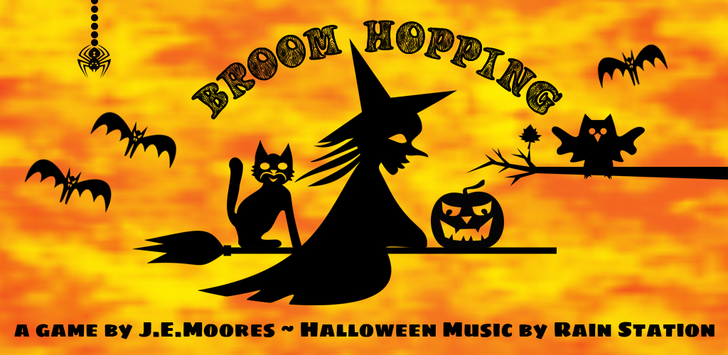 Broom Hopping mobile game by J.E.Moores